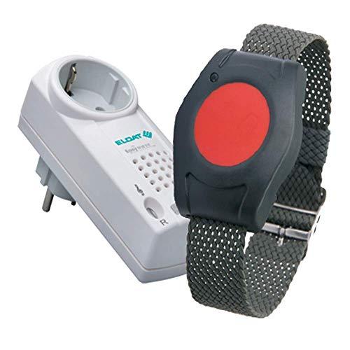 ELDAT RS16: Mobiler Hausnotruf mit wasserdichtem Notrufarmband für die häusliche Pflege; Funk Notrufsystem mit Notruf Armband; Notrufknopf für Senioren; Pflegeruf Set mit Quittierungsfunktion