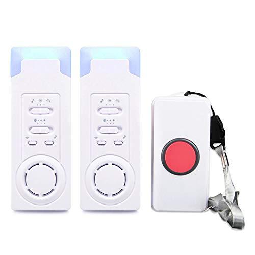 ALEENFOON Haus Wireless Mobiler Alarm Notruf Knopf Pflegeruf-Set Hausnotruf Panikalarm Funkalarm für Pflegebedürftige Geduldig Älterer Mann (1 in 2)