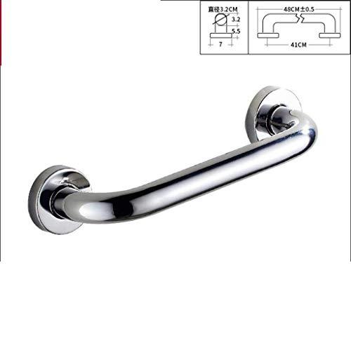 BCxx Edelstahl Badewannengeländer Altes Badezimmer Sicherheitsgriff Toilette Toilette Behinderte Handlauf Badewanne Einfache Haltestange,A,48cm