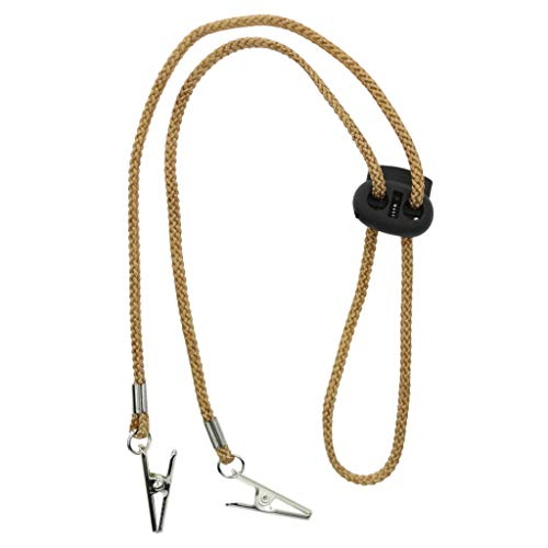 FLAMEER Serviettenkette Serviettenkettchen mit Clips für den Hals, Gold