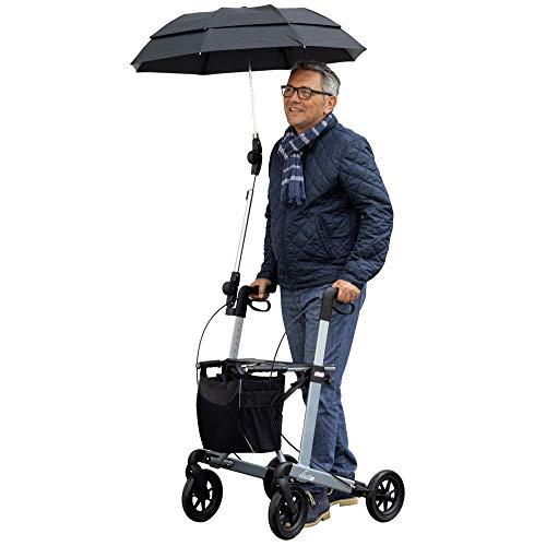 Regenschirm für Russka Rollator Vital beige-kariert