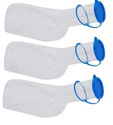 Medi-Inn Urinflasche PP für Männer milchig | 1 Liter Fassungsvermögen | autoklavierbar | 3 Stück