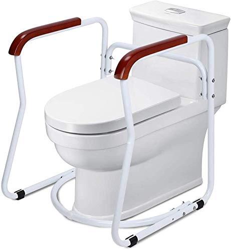 Mobile WC/Klo Aufstehhilfe, Toilettengestell Rutschfest Sicherheitsgestelle für Toiletten WC-Aufstehhilfe Badezimmer Toiletten Sicherheits Haltestange für Senioren