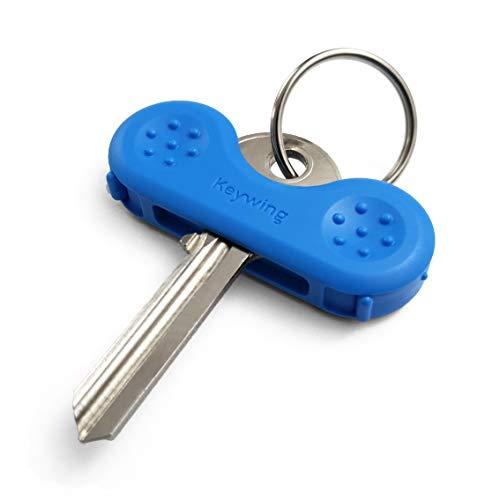 Keywing Key Turner v2 Single Blue Macht Schlüssel viel einfacher Perfekt für Arthritis, MS oder Parkinsons Geschenk, ältere Menschen mit schwachen Händen, Schlüsselfinder und Halter