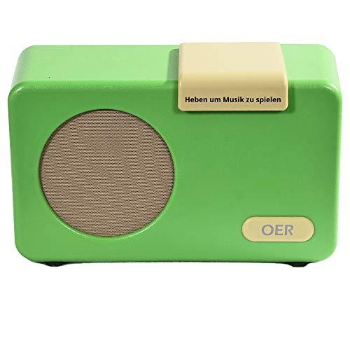OER Musik Player (Demenz Radio) Musikbox für Demenzpatienten, Seniorenradio mit Leichte Bedienung, Speziell für Senioren mit Alzheimer, Geschenk für Menschen mit Demenz, Demenz Hilfsmittel