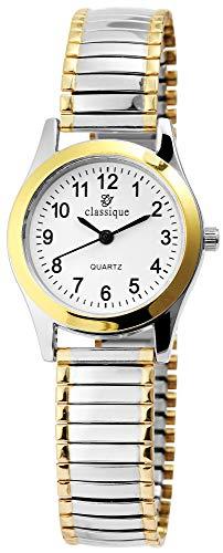 Classique Damen-Zugarmbanduhr Quarz Metall Bicolor 1700018-004