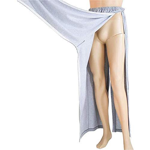 WRQ Patientenpflege-Hose,Mit Seitlichem Reißverschluss Hose Mit Offenem Schritt Inkontinenz-Hosen Zum Behinderung Bettlägerig Fraktur (Männer Und Frauen),XL