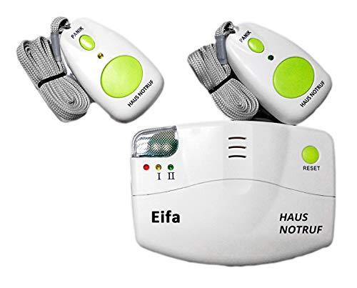 EIFA Mobiler Alarm Notruf Knopf Funk Senioren Krankenpflege Hausnotruf Pflege Überfall 2 Sender Pflegedienst Haus