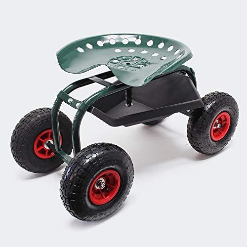 Rollsitz Werkstattwagen bis 150kg belastbar Gartenwagen Fahrbar Rollwagen Arbeitssitz Gartensitz*