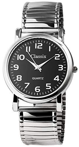 Classix Herren – Uhr Armbanduhr Zugarmband Metall Analog Quarz 2700008-001