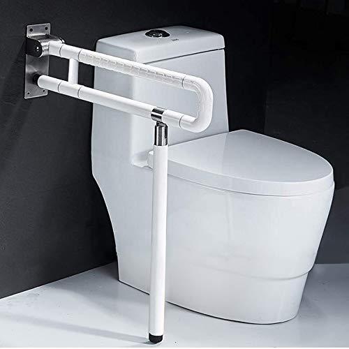 Wandstützgriff Stützhilfe Dusche WC Griff Aufstehhilfe Toiletten Stütz-Haltegriff Klappgriff Sicherheit Rutschfest Wandmontage Weiß