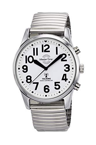Master Time Funk Quarz Sprechende Herren Uhr Analog mit Metall Armband MTGA-10691-61M