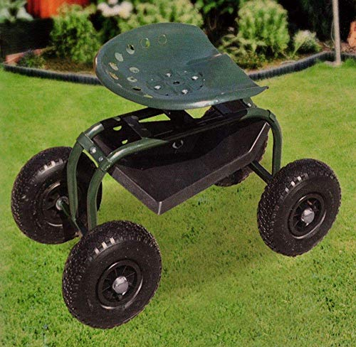 Gartensitz fahrbar Gartenhocker Arbeitshocker Gartenwagen Gartenhelfer Rollwagen