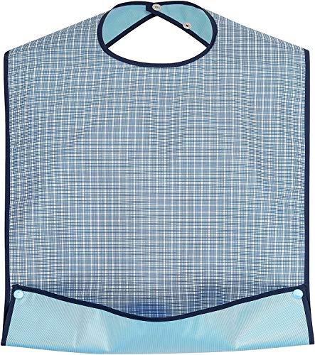 BauGaa Lätzchen – Erwachsenen Latz wasserabweisend mit Krümelfach und Druckknopfverschluss
