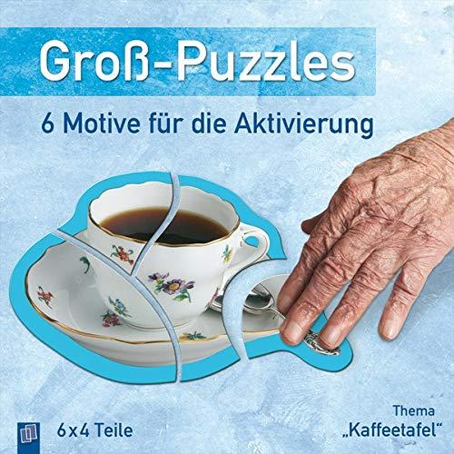 Groß-Puzzles: 6 Motive für die Aktivierung von Demenzkranken: Thema 'Kaffeetafel'