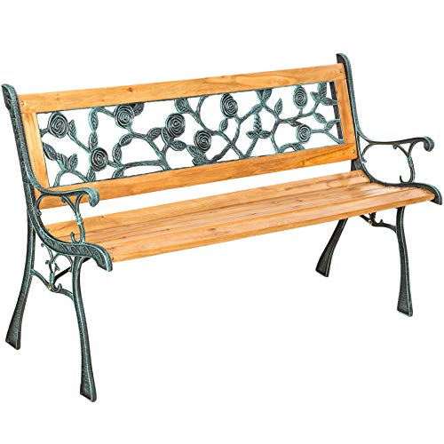 "TecTake Gartenbank Parkbank Holz - Diverse Modelle - (""Marina"" 124 x 52 x 74cm | Nr. 401424)"