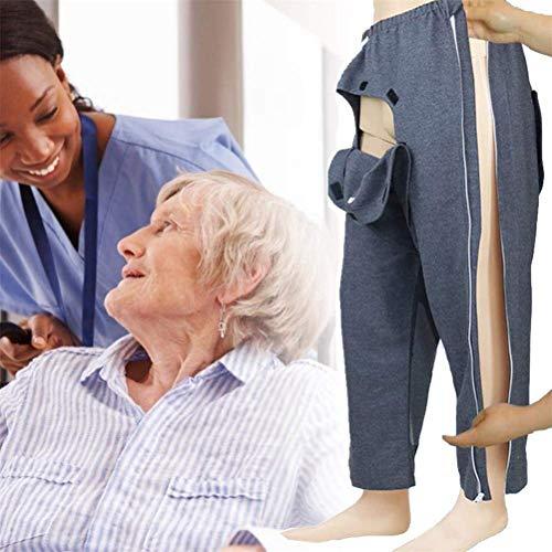 PREMOD Offene Patientenpflege-Hose, Patientenhosen, Patientenpflege, Kleidung für Behinderungen, ältere Operationen, leicht zu tragen und auszuziehen, Krankenhaus/Heimpflege, Stillhilfe, L