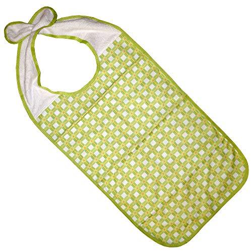 Kleidungsschutz/Ess-Schürze/Lätzchen für Erwachsene mit Steckverschluss, wasserdicht (grün)