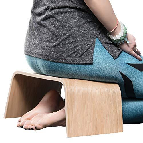 Robuste Holzbank, Geeignet für Tee-Zeremonien, Yoga, Seiza-Pose, Meditation für Anfänger, als Gebetsbank und für eine gesunde aufrechte Körperhaltung – Sitzbank Holz