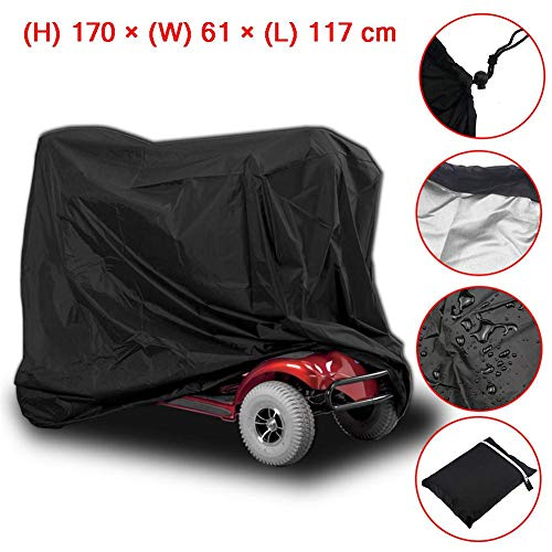 Jianghui wasserdichte Abdeckung für Elektromobil, professioneller Rollstuhl-Rollstuhl-Rollstuhl-Regenschutz, 170x61x117CM