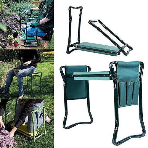 ZDYLM-Y Kniebank Faltbarer Gartenhocker mit Werkzeugtasche aus Eva-Schaumstoff im Freien tragbarer Kniehebel für die Gartenarbeit