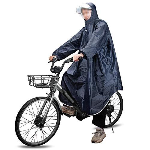MAGARROW Outdoor Regenponcho Wasserdichter Leichter Regenmantel Poncho mit Verstellbarer Kapuze Regencape Regenjacke für Herren Damen Outdoor Radfahren Wandern (Marineblau)