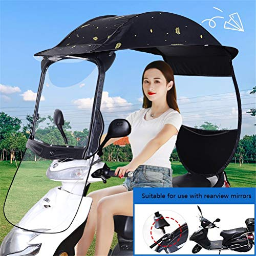 GFYWZZ Motorrad Canopy Motorrad Dach Motor Fahrrad-Sonnenblende Schatten Zelt-Regenschirm-Windschutzscheibe,G,Rearviewmirror