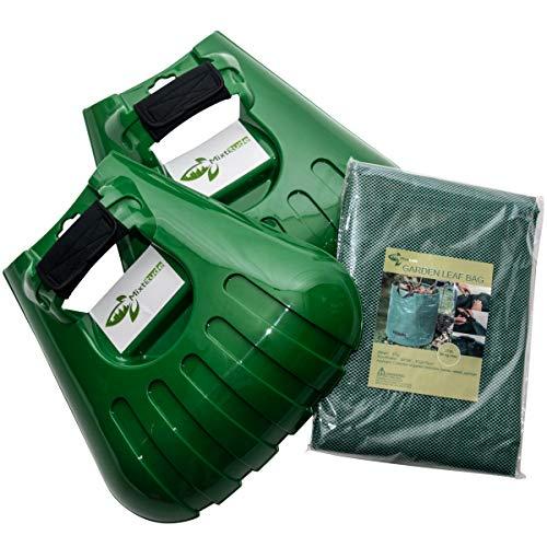 Mixitude Laubgreifer — komplett mit Handgelenkpolstern und 272 Liter Gartenabfallsack