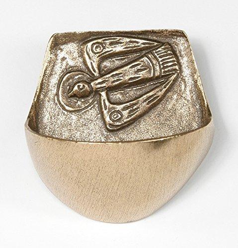 Motivationsgeschenke Weihwasserkessel Taube Bronze 7,5 cm Weihwasserbecken für Zuhause
