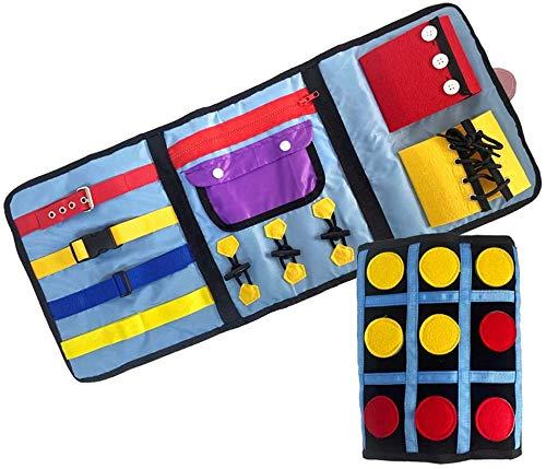 Fidget-Decke für Demenz, sensorisches Spielzeug für Erwachsene, Demenzaktivitäten, Autismus, sensorisches Spielzeug, Autistik, Alzheimer, Therapie und Angstlinderung, 1 Stück