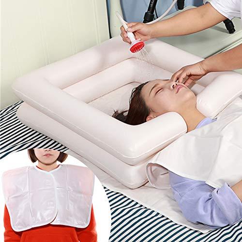 6er-Set Aufblasbare Haarwaschwanne mit Duschbeutel inkl, Aufblasbares Waschbecken für Behinderte, ältere, bettlägerige Patienten, Schwangere*