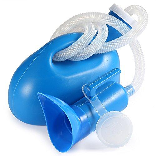 BESTOOL Urinflasche für Damen Herren 2000 ml Tragbares Töpfchen Flasche für Krankenhaus Camping Auto Reise WC Urinal (blau)