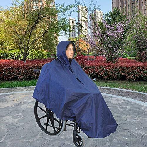 Wilk wasserdichte Abdeckung Rollstuhl für Erwachsene im Alten Poncho Heavy Duty Räder Armada wiederverwendbar Reißverschluss Fronthaube