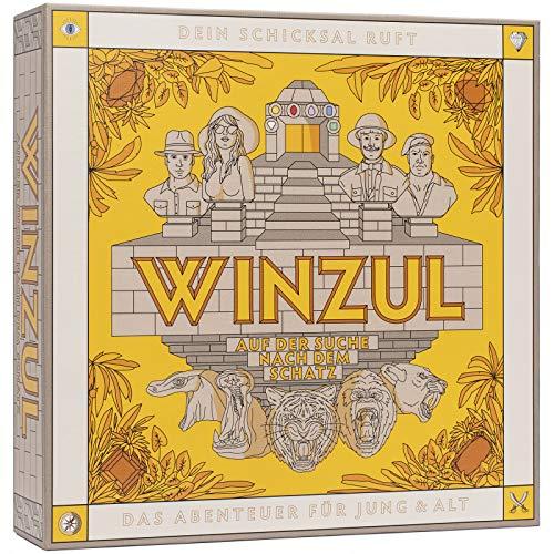 WINZUL - Das Abenteuer Brettspiel für Jung & Alt - Gesellschaftsspiel ab 10 Jahren - Strategiespiel für 2-4 Spieler